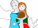 Frozen Princesses Coloring 2